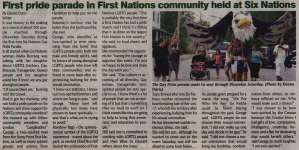 """""""First pride parade in First Nations community held at Six Nations"""""""