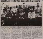 """""""Great Law recital has begun in Akwesasne"""""""