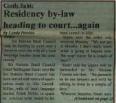 """""""Costly fight: Residency by-law heading to court...again"""""""