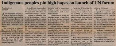 """""""Indigenous peoples pin high hopes on launch of UN forum"""""""