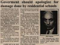 """""""Government should apologize for damage done by residential schools"""""""
