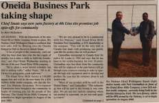 """Oneida Business Park taking shape"""