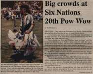 """Big crowds at Six Nations 20th Pow Wow"""