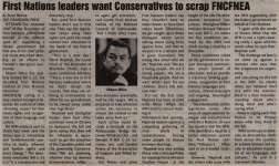 """""""First Nations leaders want Conservatives to scrap FNCFNEA"""""""