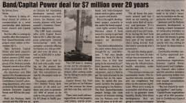 """""""Band/Capital Power deal for $7 Million over 20 years"""""""