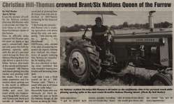 """""""Christina Hill-Thomas crowned Brant/Six Nations Queen of the Furrow"""""""
