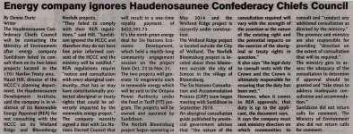 """""""Energy company ignores Haudenosaunee Confederacy Chiefs Council"""""""