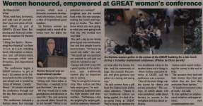 """""""Woman honoured, empowered at GREAT woman's conference"""""""