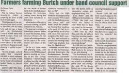 """""""Farmers Farming Burtch Under Band Council Support"""""""