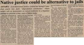 """Native justice could be alternative to jails"""