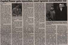 """""""Capital Power gets injunction, court ignores consultation law"""""""