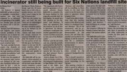 """""""Incinerator still being built for Six Nations landfill site"""""""