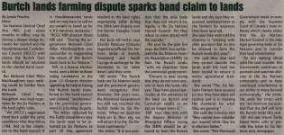 """Burtch lands farming dispute sparks band claim to lands"""