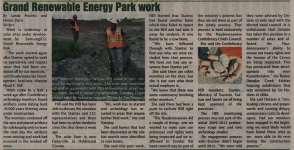 """Grand Renewable Energy Park work"""