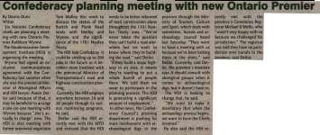 """""""Confederacy planning meeting with new Ontario Premier"""""""
