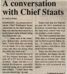 """A conversation with Chief Staats"""