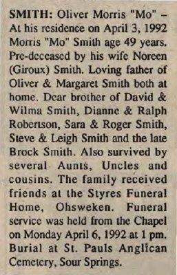 Smith, Oliver Morris
