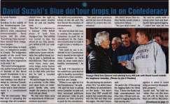 """David Suzuki's Blue dot tour drops in on Confederacy"""