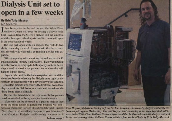 """""""Dialysis Unit set to open in a few weeks"""""""