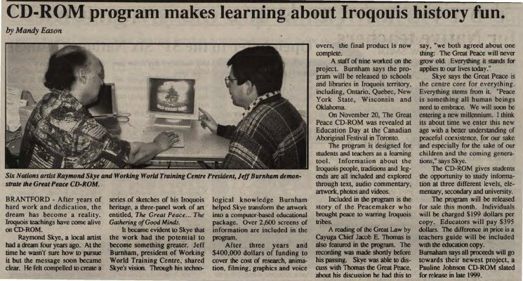 """CD-ROM program makes learning about Iroquois history fun"""