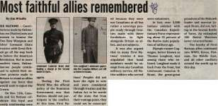 """""""Most faithful allies remembered"""""""