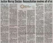 """""""Justice Murray Sinclair: Reconciliation involves all of us"""""""