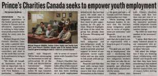 """""""Prince's Charities Canada seeks to empower youth employment"""""""