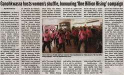 """Ganohkwasra hosts women's shuffle, honoring 'One Billion Rising' campaign"""