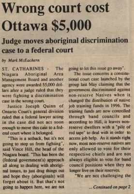 """""""Wrong court cost Ottawa $5,000"""""""