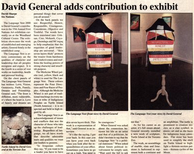 """""""David General adds contribution to exhibit"""""""