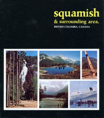 """Brochure cover of """"Squamish and surrounding area"""""""