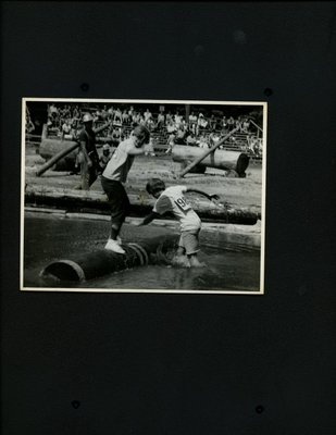 Photograph of Logger Sports - Log Rolling
