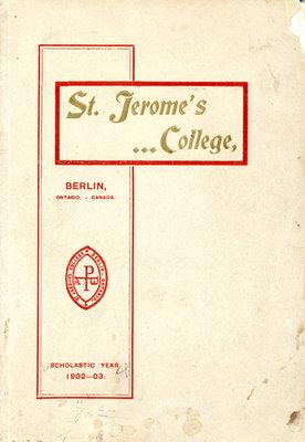 St. Jerome's College Calendar 1902-03