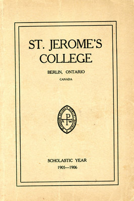 St. Jerome's College Calendar 1905-1906