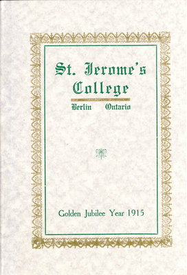 St. Jerome's College Calendar 1915