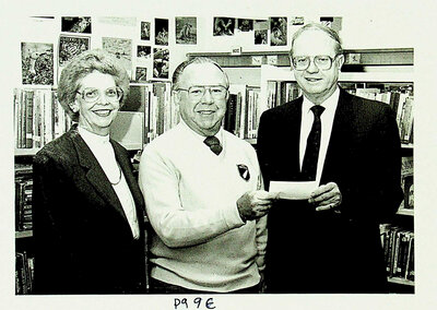 Photograph of a donation to the Stirling-Rawdon Public Library, Stirling, ON