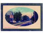 Photograph of a framed painting of Front St. Stirling, ON