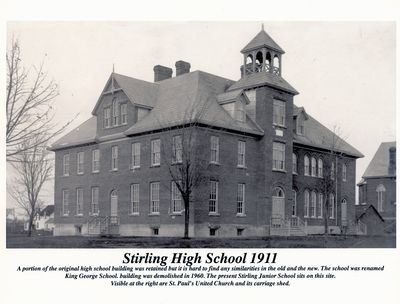 Photograph of Stirling High School, Stirling, ON, 1911