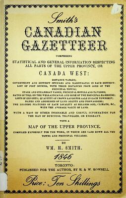 Smith's Canadian Gazetteer, 1846