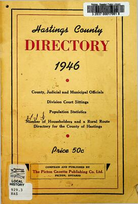 Hastings County Directory, 1946