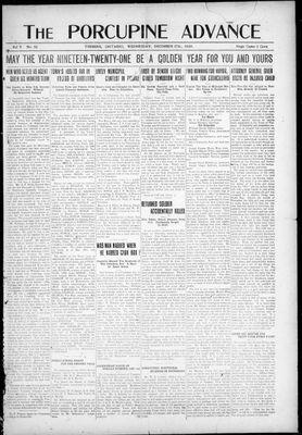 Porcupine Advance, 27 Dec 1920