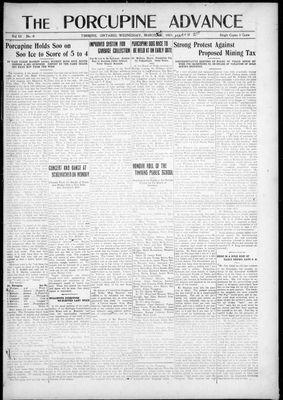 Porcupine Advance, 2 Mar 1921