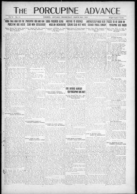 Porcupine Advance, 16 Mar 1921
