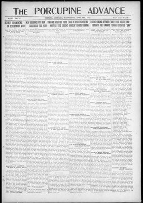Porcupine Advance, 20 Apr 1921