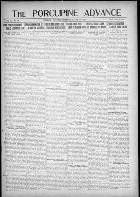 Porcupine Advance, 1 Jun 1921