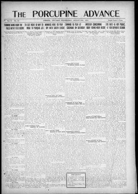 Porcupine Advance, 10 Aug 1921