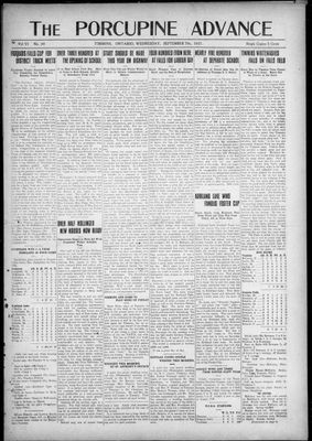 Porcupine Advance, 7 Sep 1921