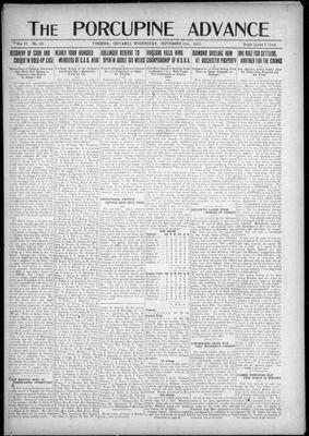 Porcupine Advance, 21 Sep 1921