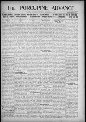 Porcupine Advance, 5 Oct 1921
