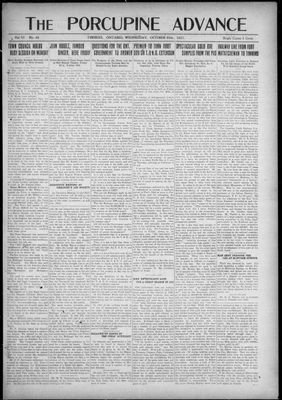 Porcupine Advance, 26 Oct 1921